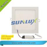 Lámpara del panel cuadrada montada superficie de aluminio de Sunlux 6W 9W 12W 18W 110V-240V