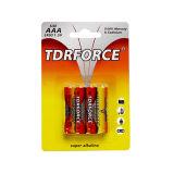 batterie alkaline de la pile 1.5V (LR03-AAA-AM-4) sèche avec BSCI pour le jouet