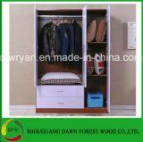 Gabinete do Wardrobe das portas da alta qualidade três para o quarto