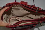 PU Bolso Bolso de Hombro rojo con metal plateado decoración (ZXK1761)