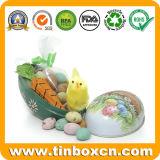 Caixa de estanho Páscoa personalizados podem Dom embalagens de metal