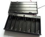 Cassetta portabatterie side-by-side 8*AA dell'ABS di plastica con collegare
