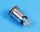 Cor dupla impermeável IP67 Interruptor de botoneira de alumínio