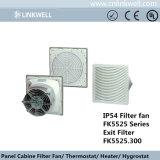 Nuevo diseño de plástico ABS de filtro de ventilador de refrigeración en el Gabinete (FK5525)