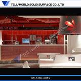 La barra de LED de acrílico de mesa redonda de superficie sólida sobre la barra de Bar