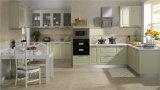 Gabinete de cozinha clássico de madeira (JX-KCSW017)