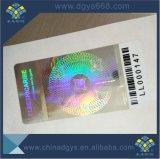 Holograma Laser de cor verde a etiqueta etiquetas autocolantes