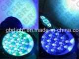 Alta potencia 54pcs*3W PAR LED bañador de pared el zoom fase de control DMX Iluminación efecto lavado