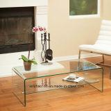 Tavolino da salotto curvo piegato di vetro Tempered