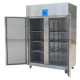 Двойные двери коммерческого Вертикальный морозильник с термостат Dixell на кухне