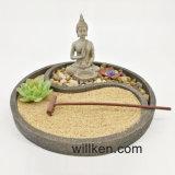 Décoration ovale de Feng Shui de jardin de Zen de Bouddha