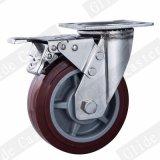 ステンレス鋼シリーズ頑丈なPUの旋回装置の足車