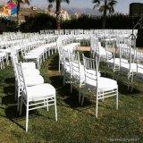Empilement de la présidence en acier de Tiffany Chiavari de mariage de banquet d'hôtel de fer en aluminium