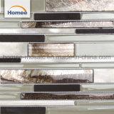 Tegel van uitstekende kwaliteit van het Mozaïek van het Glas van de Grootte van het Mengsel van het Aluminium van de Mengeling de Bruine Multi