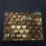 Dekoration-Glas mit Muster und goldener Folie