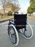 Portable, handicapés, fauteuil roulant en acier inoxydable