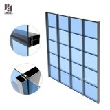 Diseño popular marco invisible muro cortina fachada de cristal.