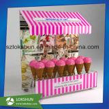 Support acrylique personnalisé d'étalage de sucrerie