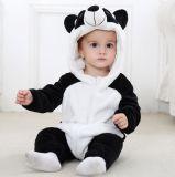 男女兼用の赤ん坊のロンパース、ジャンプスーツの冬および秋のフランネルの衣裳動物の用品類