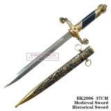 ヨーロッパの短剣のホーム装飾の歴史的短剣37cm