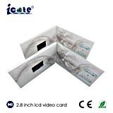2.8 cartolina d'auguri dello schermo di pollice TFT IPS/HD video