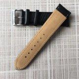 Venda de reloj completada durable del cuero genuino