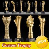 Promoción de la mayorista de metal personalizados trofeo de cristal artesanal de Golf de la Copa de Fútbol Deporte Fútbol K9 Premio Estrella de cristal de la resina acrílica de Medalla de Oro trofeo para Souvenir de regalo eventos
