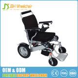 Cadeira de rodas elétrica de alumínio de dobramento com liga de alumínio