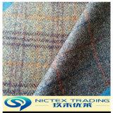100% Lana tejido Tweed de estilo británico de chaqueta de abrigo, 450G/M