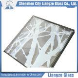 Línea abstracta vidrio de la decoración para la exposición de arte