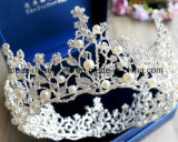 2018の最も新しいカスタマイズされたクリスマス・パーティの装飾の水晶王冠の結婚式のガラスStonneの金ラインストーンのティアラの花嫁の王冠(BC05)