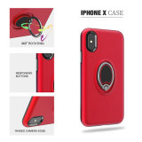 iPhone x Case Magnetic Ring Rotatable를 위한 내진성 PC Car Absorption