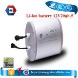12V 20ahのPCMが付いている太陽リチウム李イオン充電電池