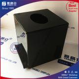 Cadre acrylique personnalisé noir carré de donation