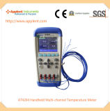 Registrador do indicador da temperatura do par termoeléctrico de K para os fornos (AT4204)