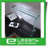 Lámpara de mesa de vidrio curvado de color gris con potencia de la UE