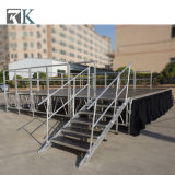 Hauteur ajustable à l'extérieur Stade en aluminium portable pour les performances de l'événement de plein air