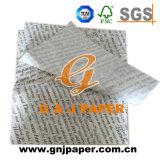Divers types de nourriture pour l'emballage du papier imprimé