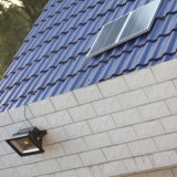 Angeschaltener Flutlicht-Solarscheinwerfer, im Freien wasserdichtes Sicherheits-Licht für Haus, Garten, Rasen, Pool