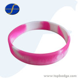 Braccialetto di gomma di schiaffo di allergia della mano del Wristband registrabile poco costoso del silicone
