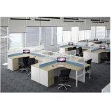 사람 4/6를 위한 현대 S 모양 사무실 워크 스테이션 모듈 세트