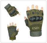 Multicolors EsdyのFingerless戦術的な射撃の防護手袋