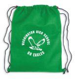 Sac 100% de sac à dos de chaîne de caractères de traction de sac de cordon de polyester