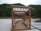 Сад способный к возрождению Pavillion легкого доказательства декоративный WPC термита установки