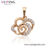 33623 Quadrat CZ-Kristall-Anhänger des Xuping Form-Luxus-18K Gold-Plated
