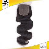 Accesorio brasileño del pelo del encierro 4*4 de la tapa del cordón
