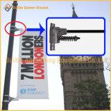 Buigen de OpenluchtAdvertenties van Pool van de straatlantaarn de Steun van de Spaarder van de Banner
