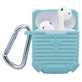 Cubierta protectora del auricular modelo privado del silicón para el caso de Apple Airpods
