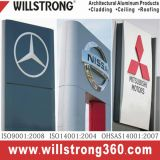 1100/3003 di alluminio della lega ha curvato facendo pubblicità al contrassegno architettonico del basamento
