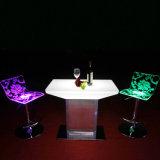 Muebles Plásticos LED cambia de color brillante mesa LED